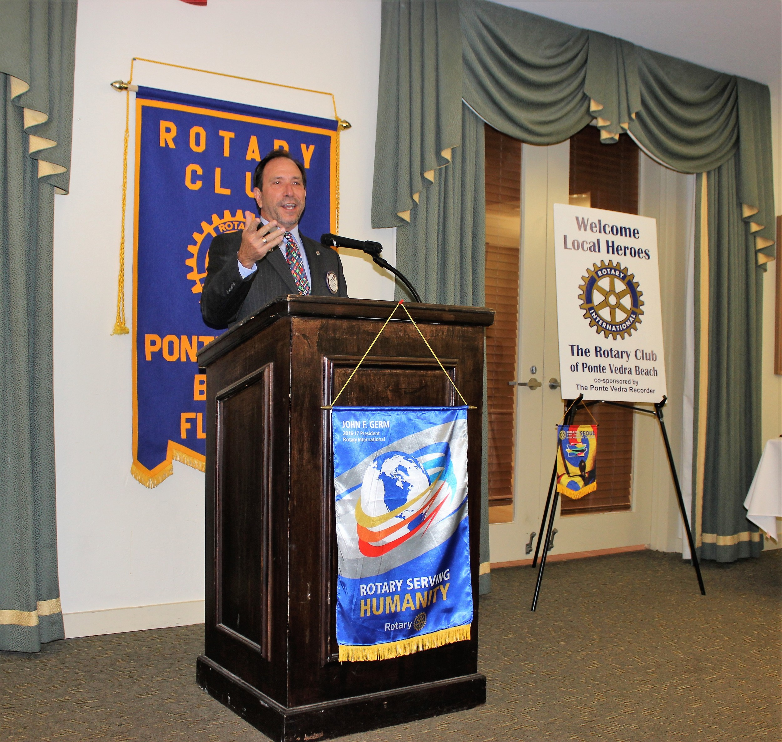 Rotary Club of Ponte Vedra Beach President Michael Bruce