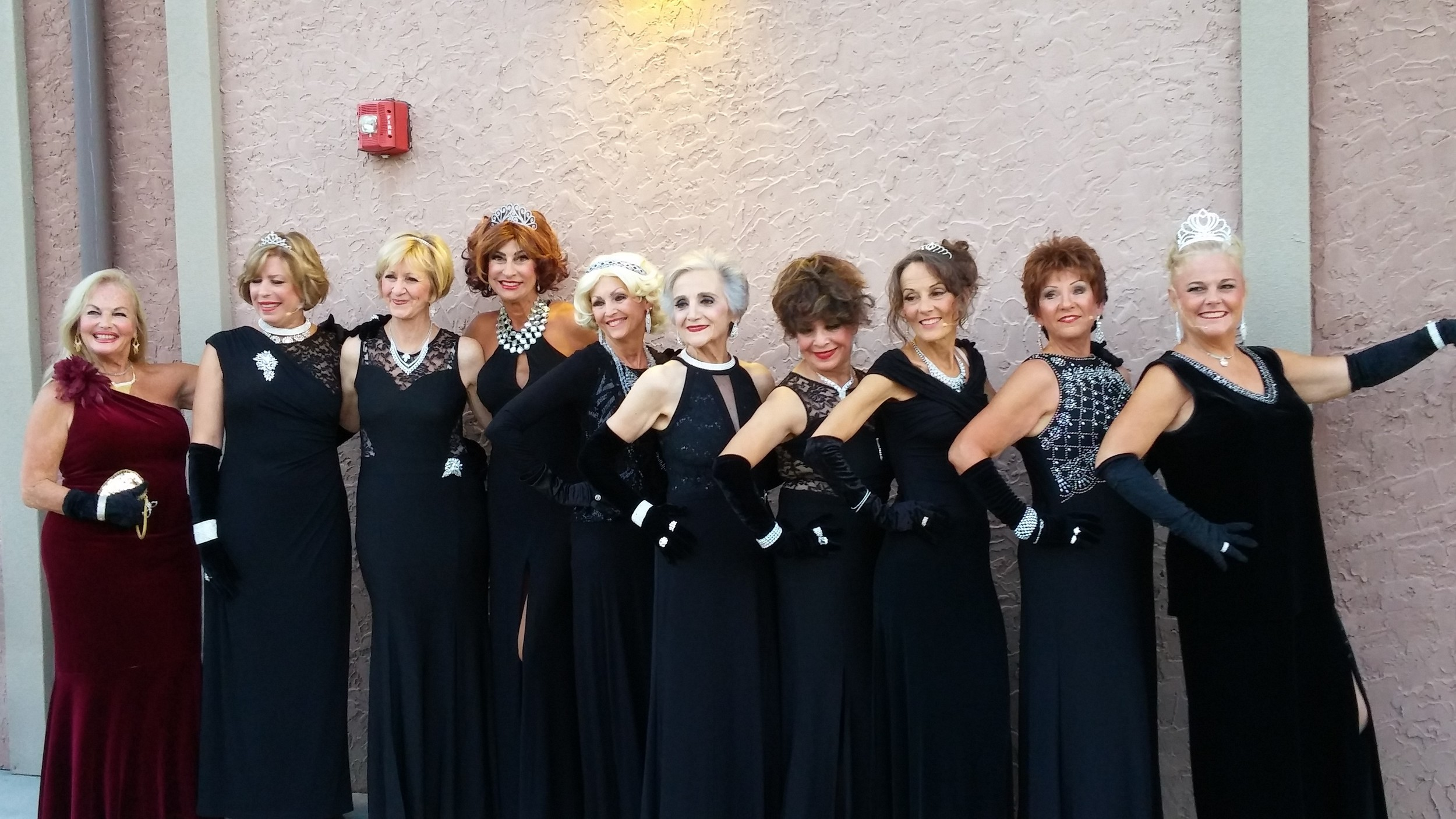 "The Del Webb Performing Arts Club's ""Leading Ladies"" present their rendition of ""Diamonds are a Girl's Best Friend."""