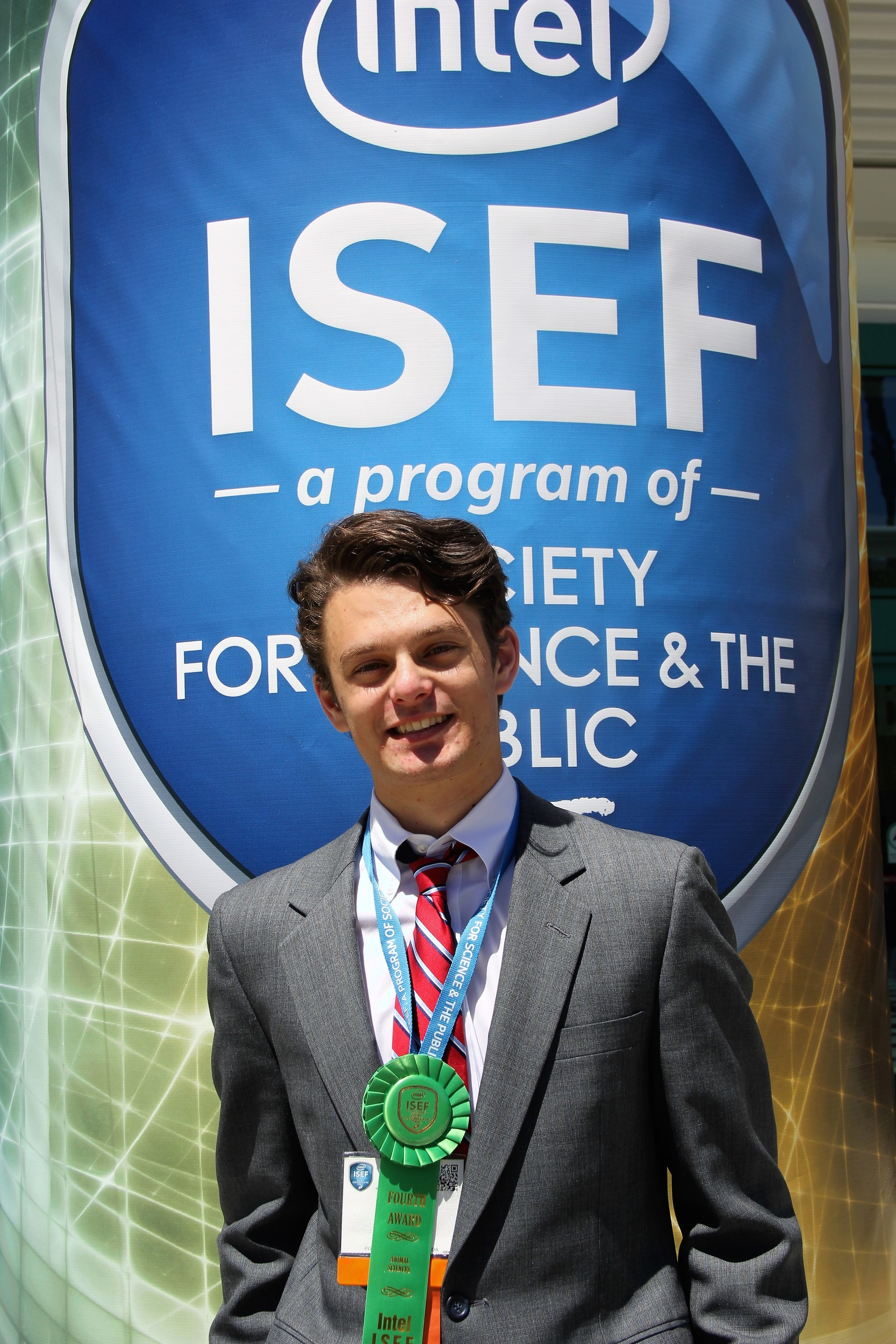 James Staman took fourth place at the Intel International Science and Engineering Fair in Los Angeles in May.