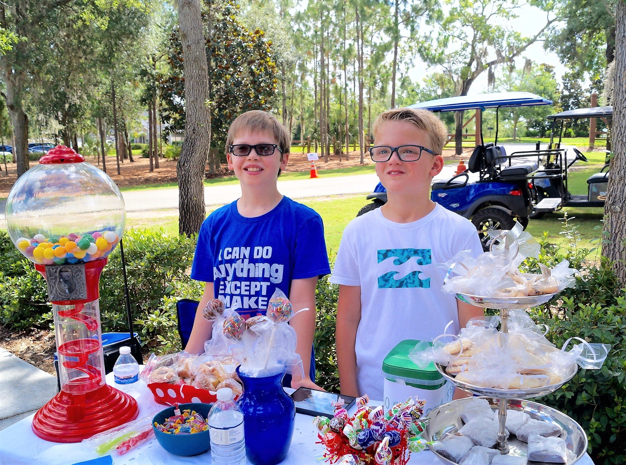 Beckham Alexander, 10, and Sam Thornton, 9, sold sweet treats to benefit JDRF Diabetes Foundation. Alexander was diagnosed with type 1 diabetes earlier this year and wants to educate people about the many misconceptions associated with diabetes.