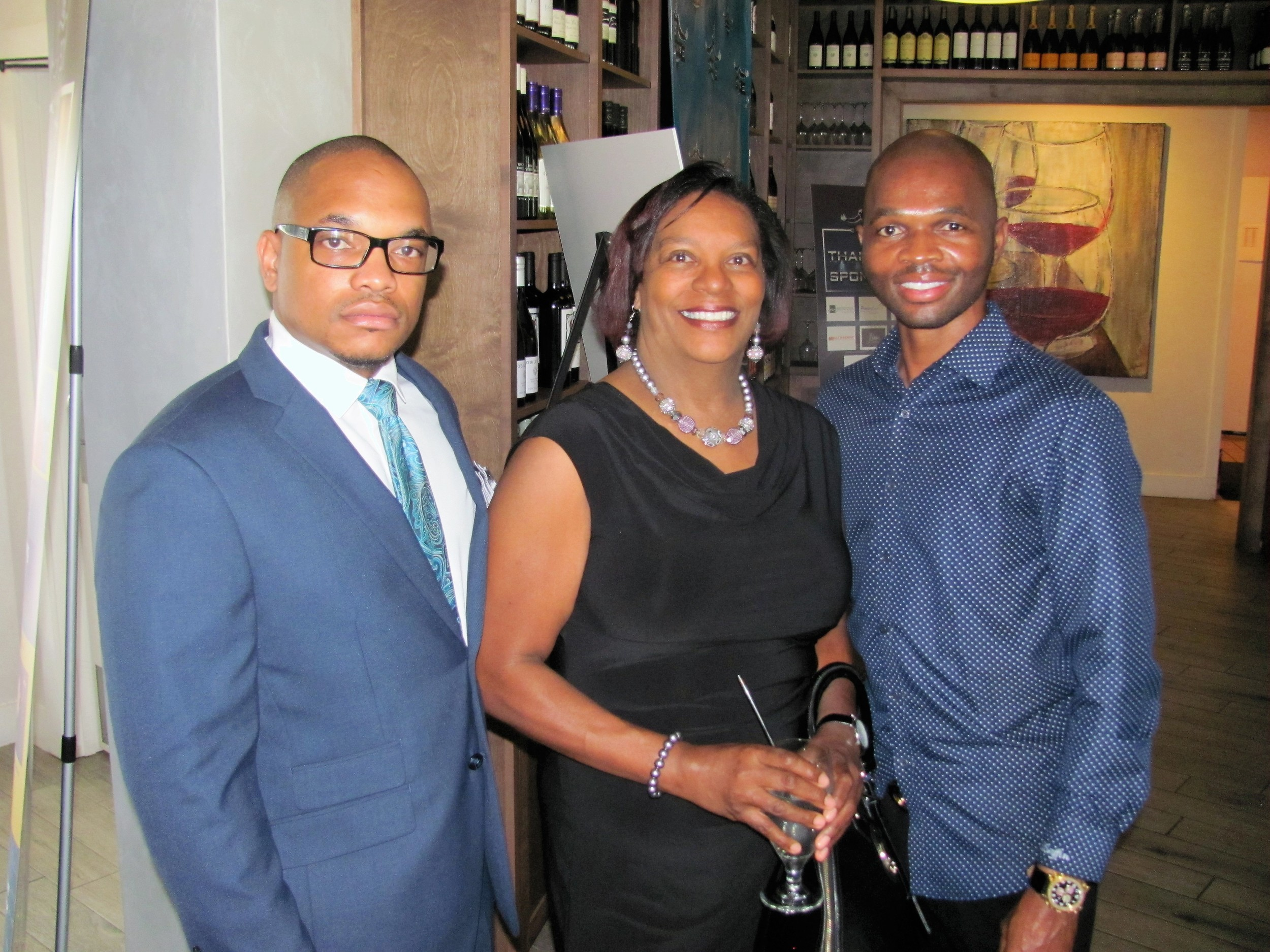 Howard Edwards, Pam Denson and Cedric Griffin
