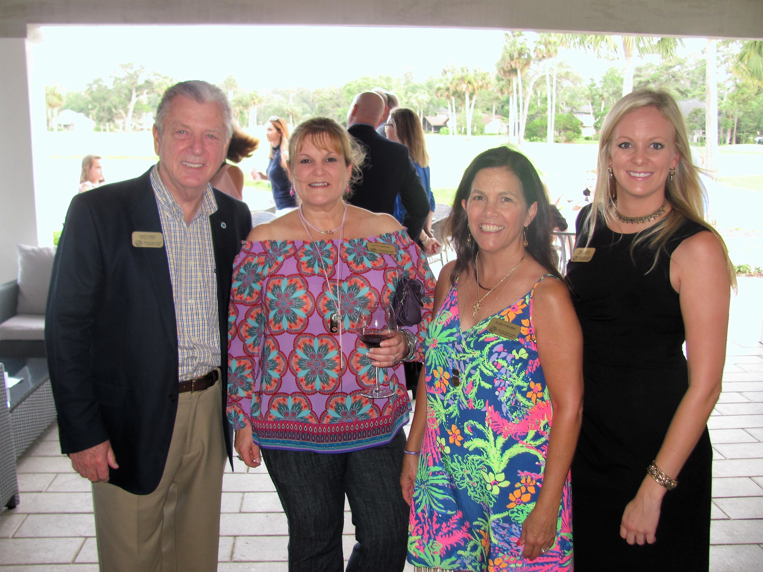 Scott Wiley, Cathy Marcum, Ellen O'Rourke and Erin Outlaw of the Beaches Boys and Girls Beaches Club
