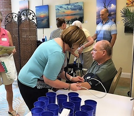 Cypress Village residents recently participated in National Senior Health & Fitness Day.