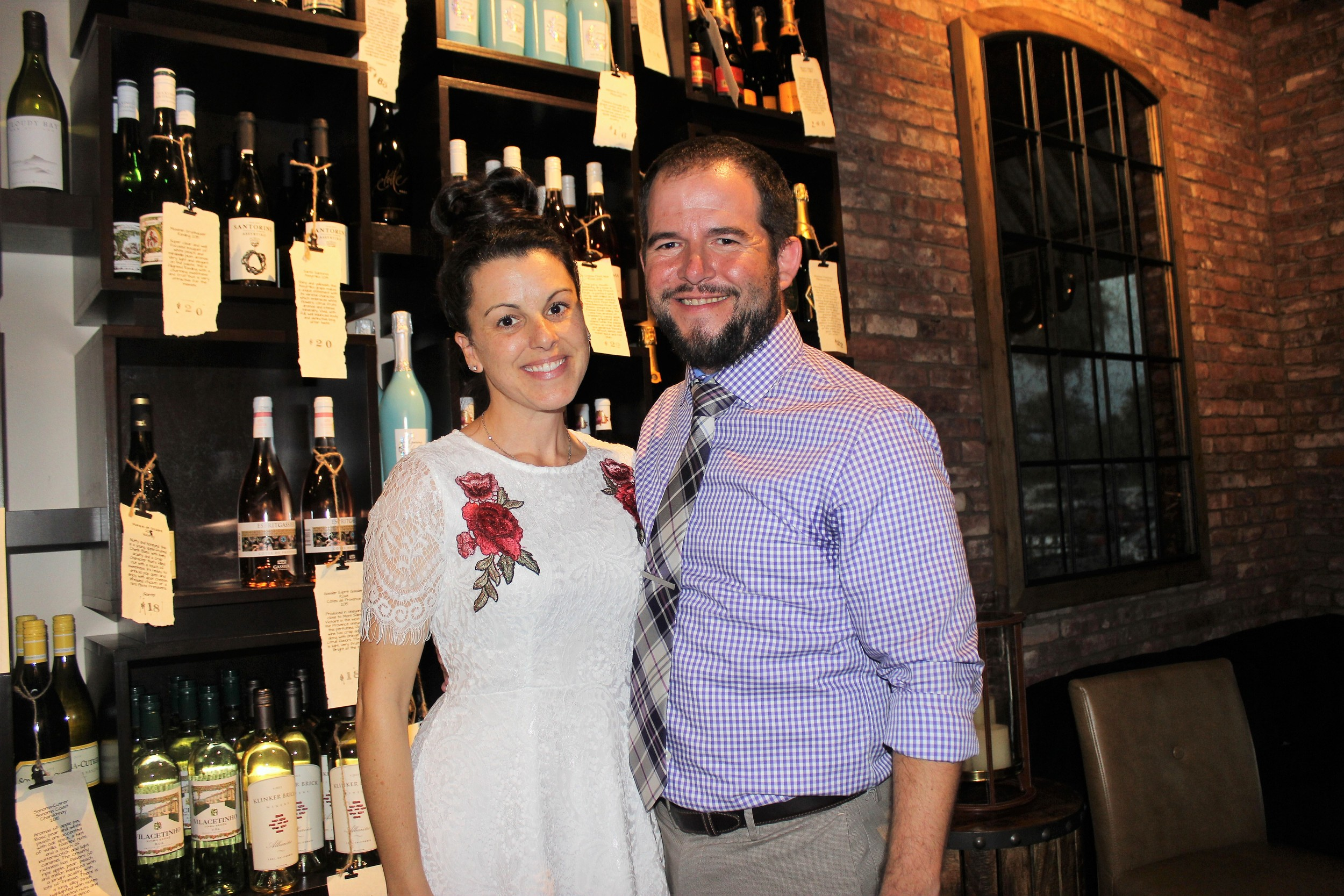 Shaun and Steve Lourie celebrate the first anniversary of their shop, Coastal Wine Market & tasting room, located at 641 Crosswater Parkway in Nocatee.