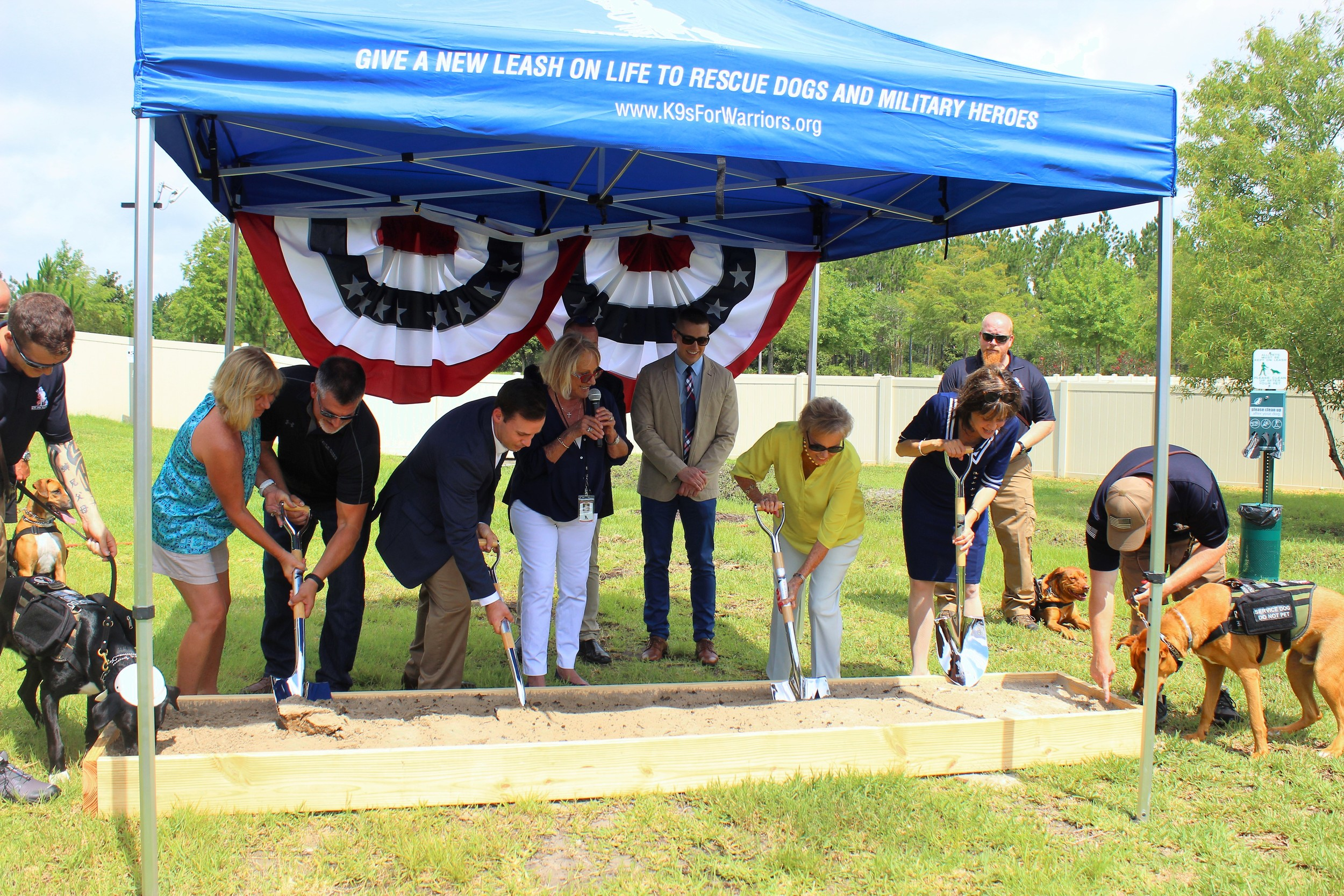 K9s for Warriors holds a ground-breaking ceremony for its new training facility.