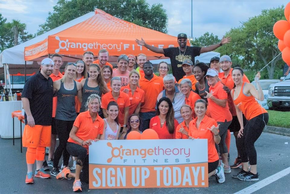 Orangetheory Fitness team members spread the word about their new studio locations.