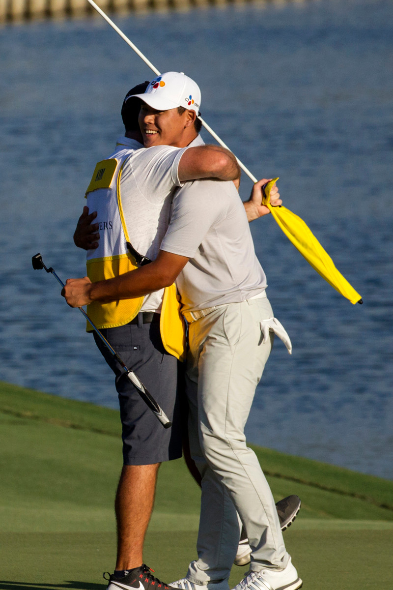 Si Woo Kim celebrates his historic 2017 victory at THE PLAYERS.