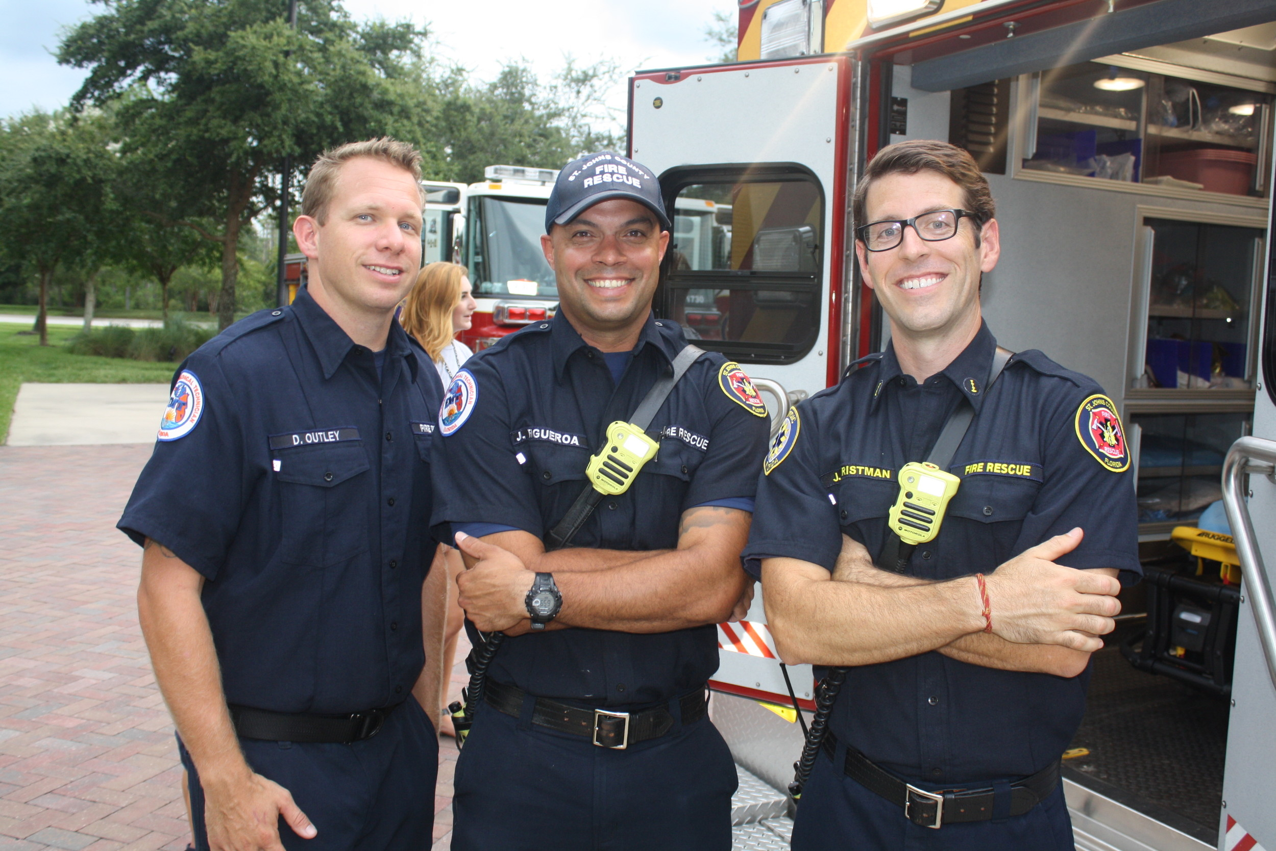 Daniel Outley, Javier Figueroa and James Christman from St. Johns County Fire Rescue