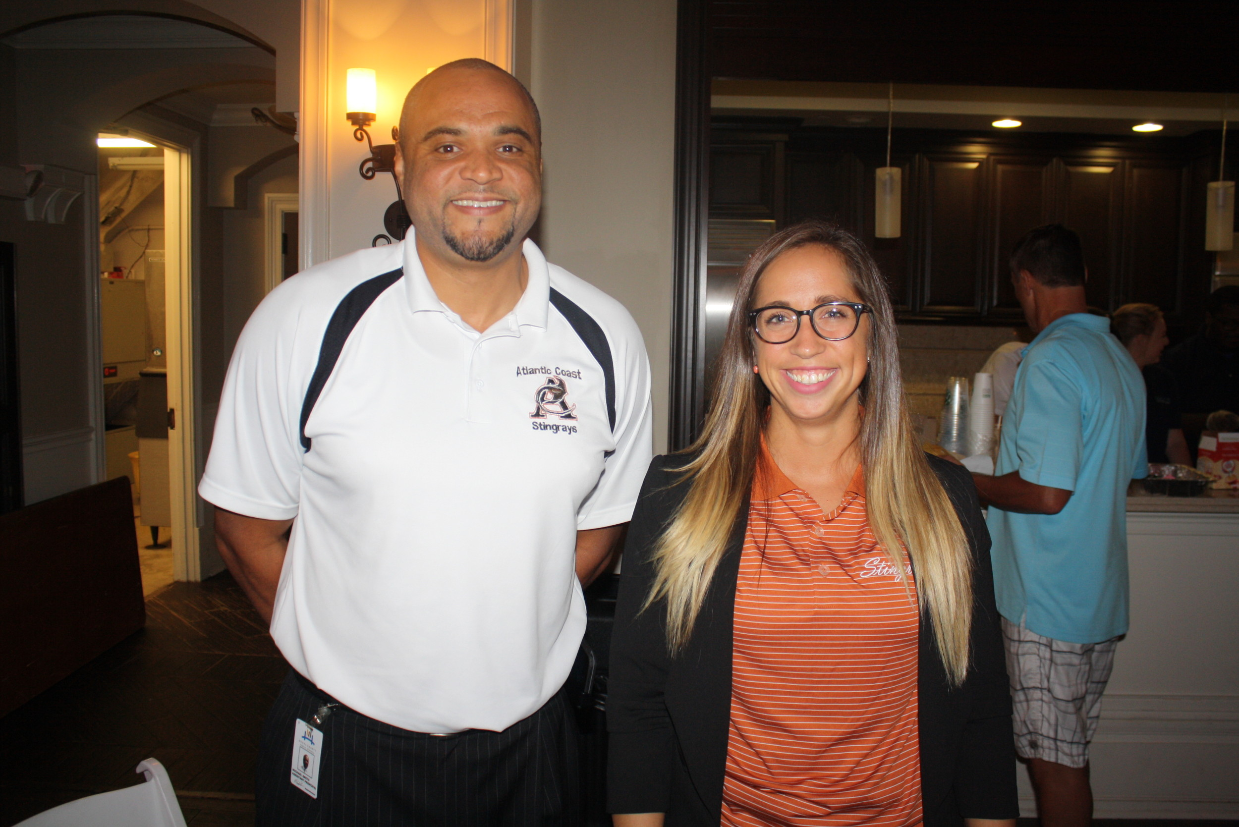 Atlantic Coast High School Assistant Principals Dr. Michael Smith and Emily McMahon
