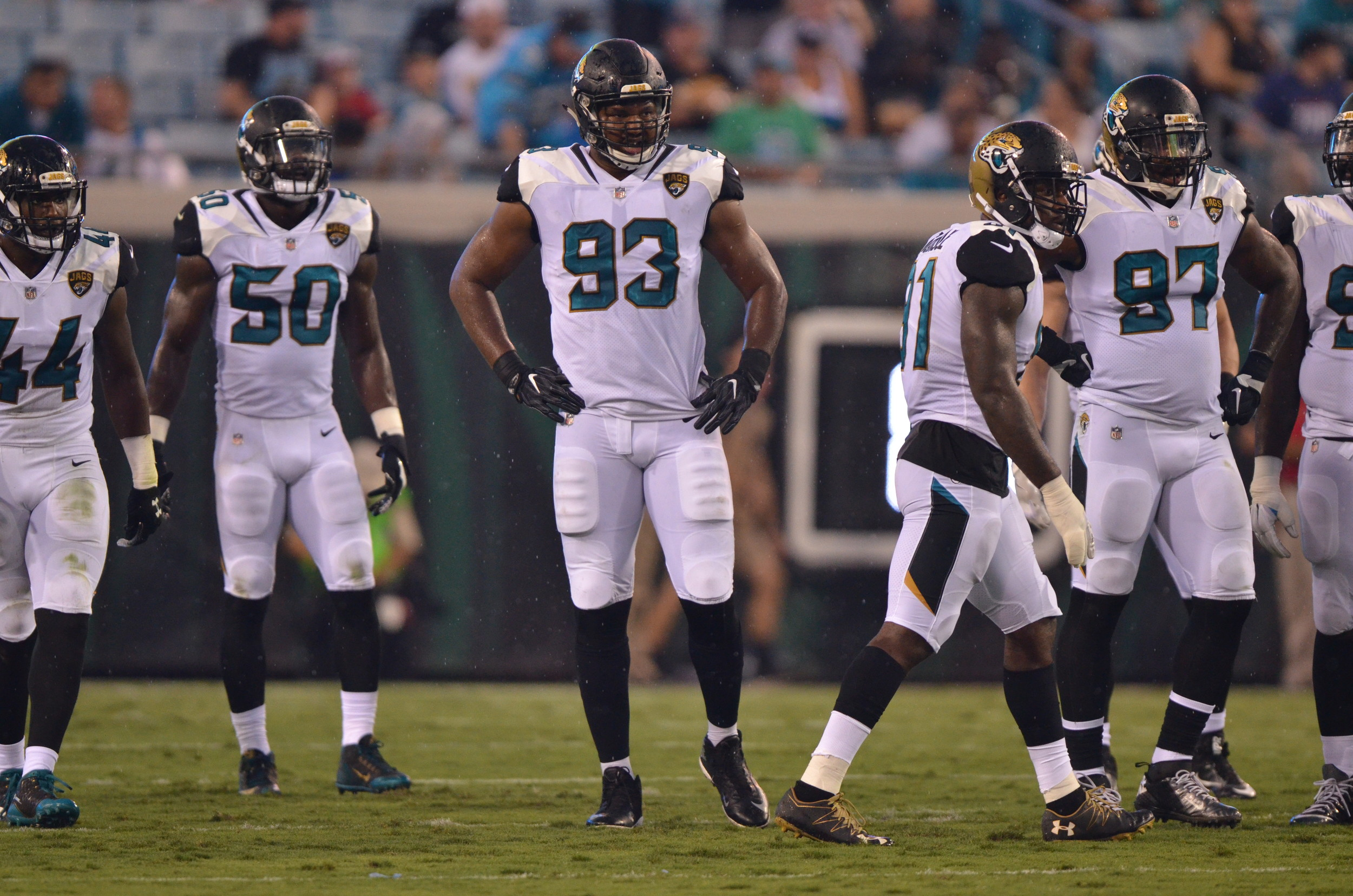"""We got to do better starting as a defense,"" said Jaguars defensive lineman Calais Campbell (93) following Jacksonville's 24-23 preseason loss to the Carolina Panthers."