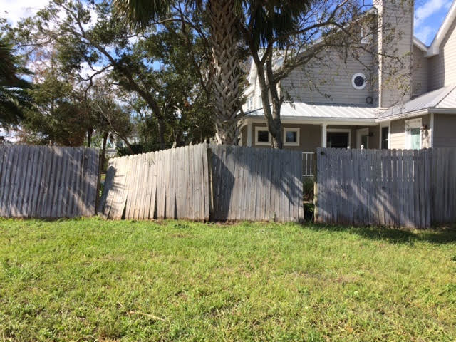 Fences throughout Ponte Vedra Beach are damaged or destroyed due to Hurricane Irma.