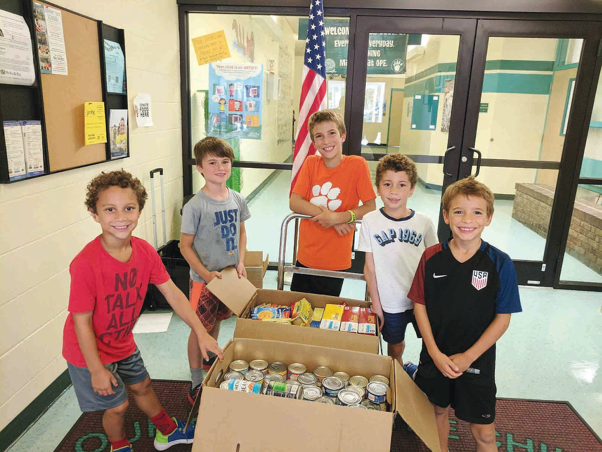 Ocean Palms Elementary recently exceeded its goal of collecting 1,000 food items by collecting 1,789 - a full day before the deadline. Donations benefit the St. Francis House, Migrant Workers in Armstrong and the Celebration Lutheran Food Pantry. School students celebrated the achievement by wearing a crazy/favorite hat on Friday, Sept. 8.