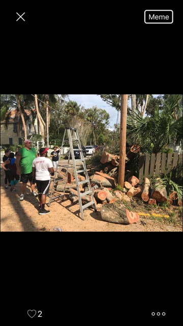 A group of St. Johns County churches—including Colonial Church, Good News Church, Reverb Church and Christ Church—mobilized last weekend to help with several recovery projects around the county.