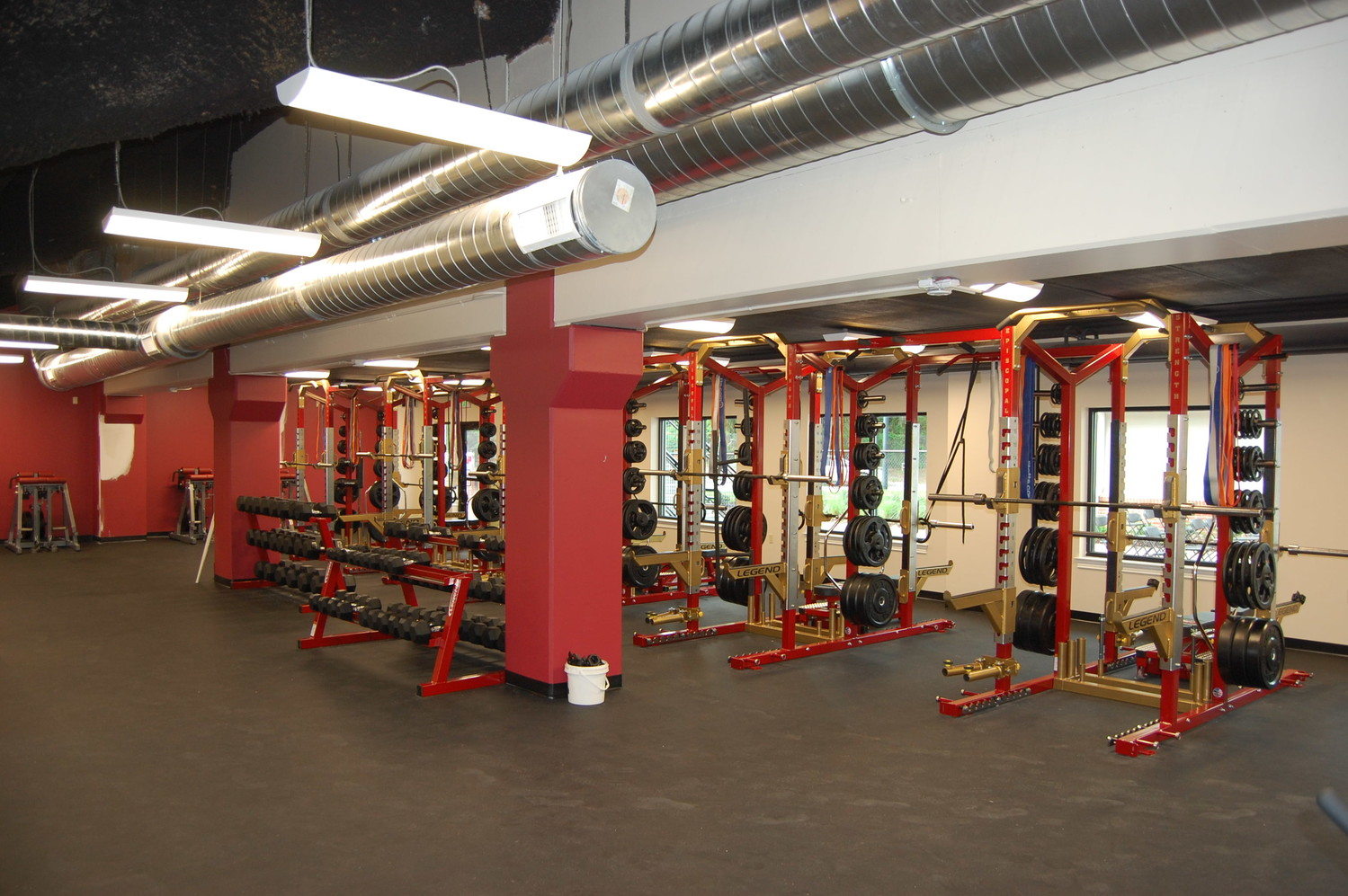 A fully equipped weight room for student-athletes was added as part of Episcopal's Leading the Way campaign.