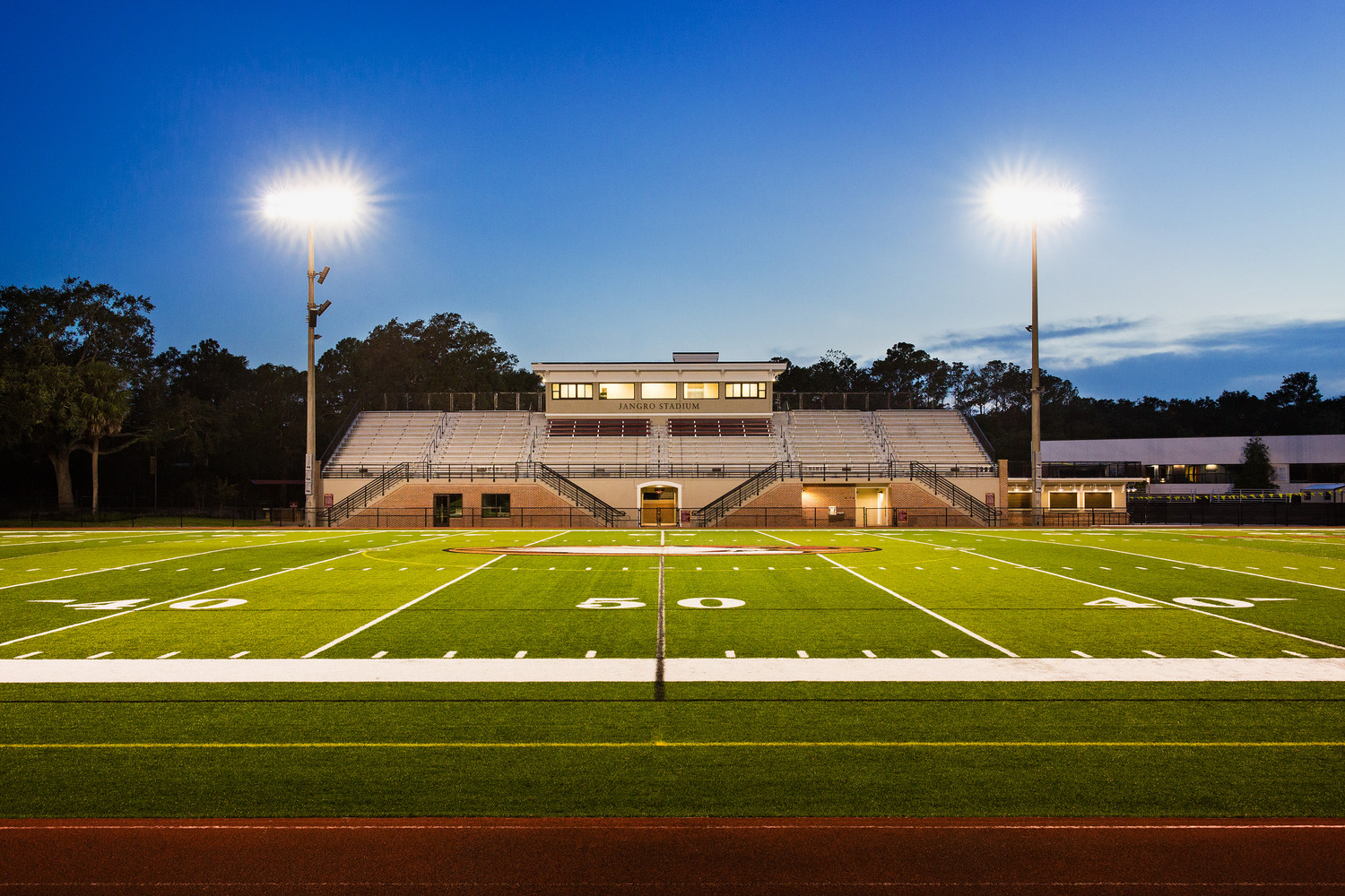 The newly renovated football stadium at Episcopal School of Jacksonville, Jangro Stadium, was named in honor of Ponte Vedra Beach residents Susan and Joe Jangro.