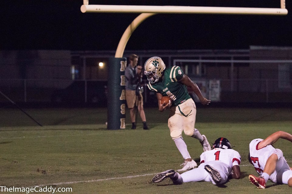 Nease running back Jareem Westcott scores one of his five touchdowns during last Friday night's game.
