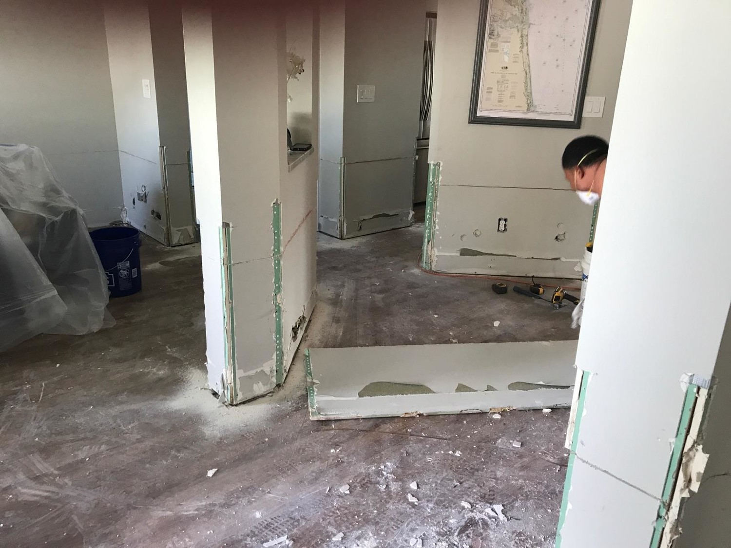 The flooring of the Storck home is in the process of being replaced after Irma.