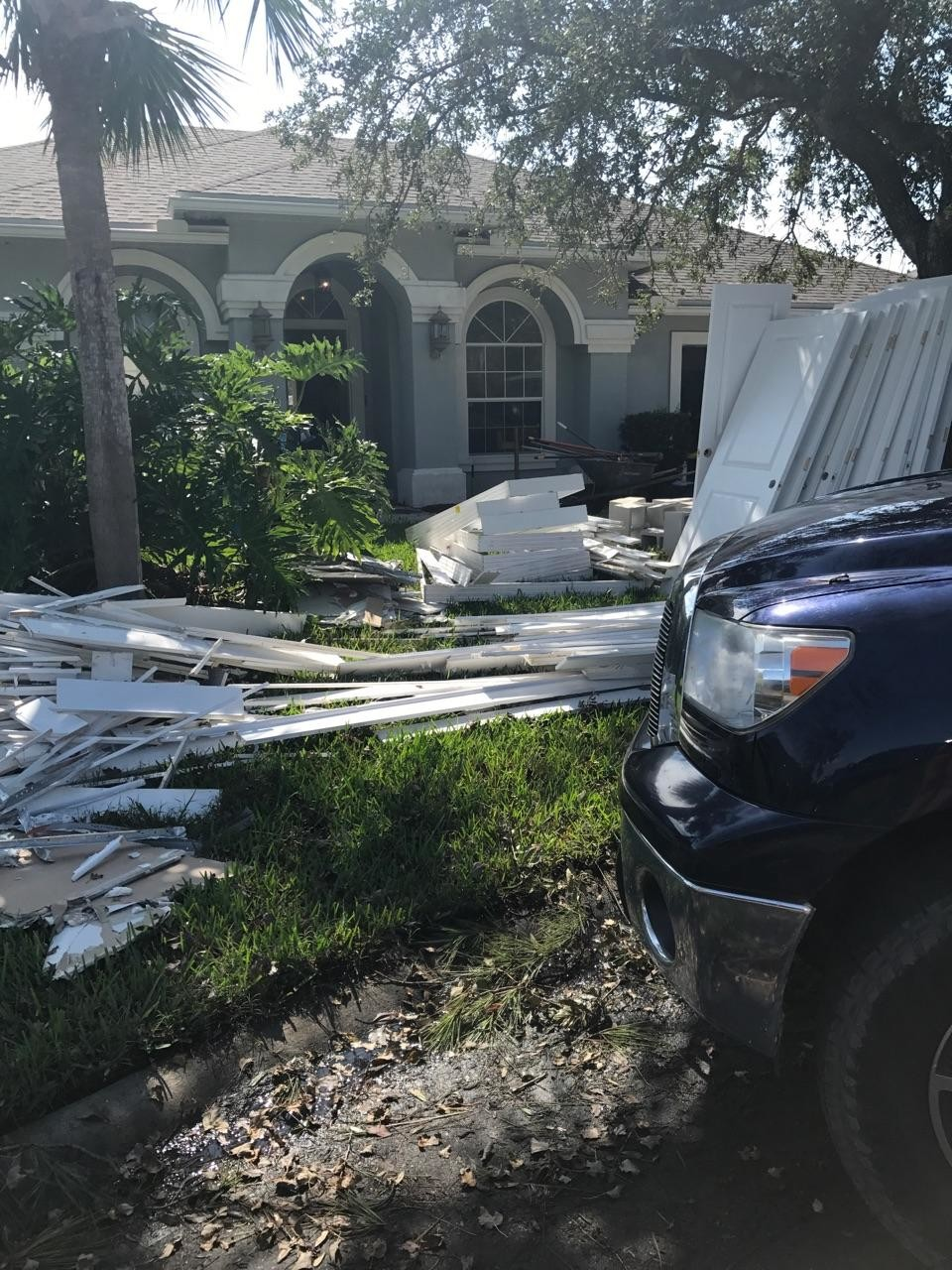 The Storck home is being rebuilt following Irma.