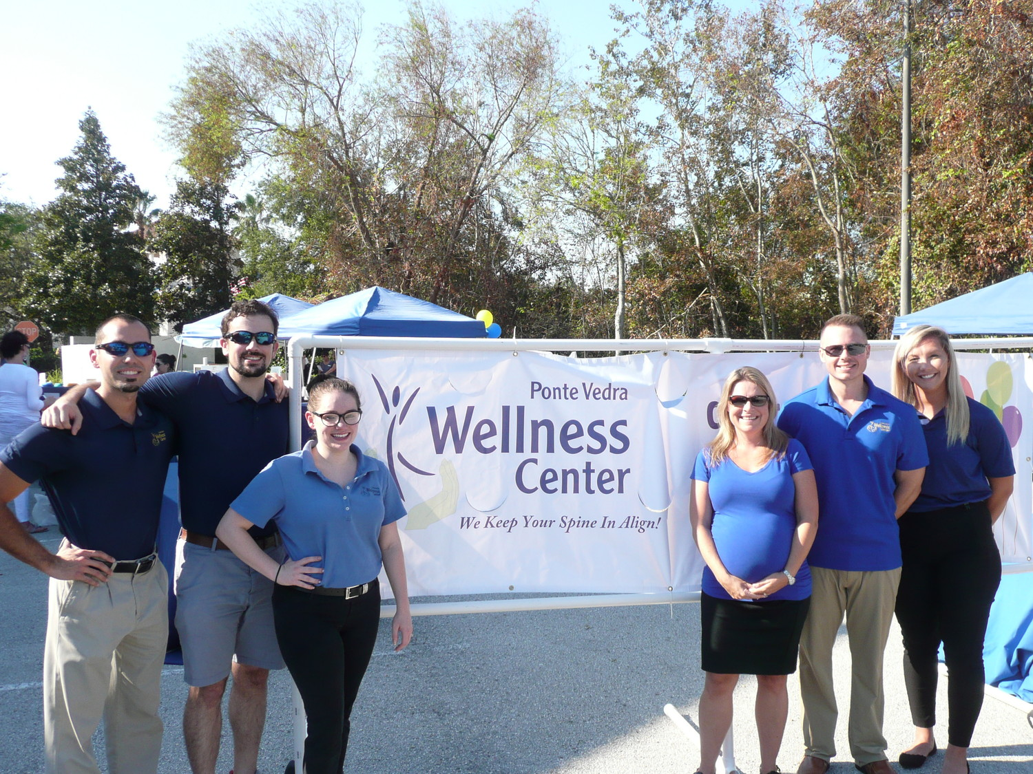 Daniel Tirado, Daniel Brauch, Marissa Daniels, Ponte Vedra Wellness Center owner Dr. Erika Hamer, Dr. Casey Means and Lejla Karic gather at the wellness fair and anniversary party.