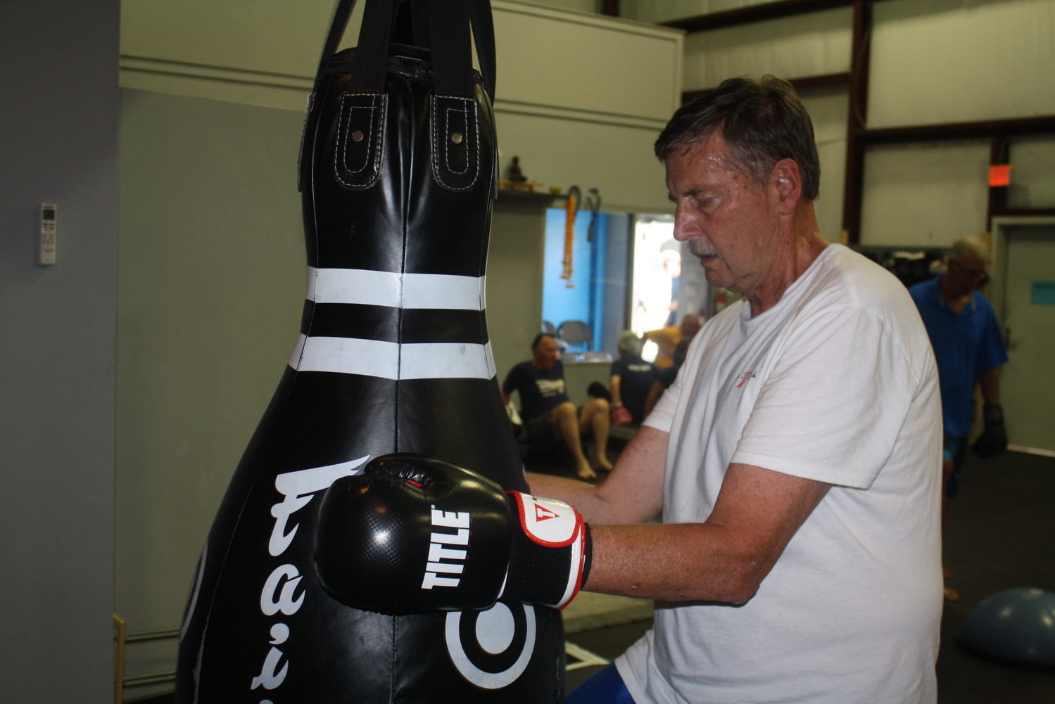 A member of Rock Steady Boxing Jacksonville fights back against Parkinson's disease.