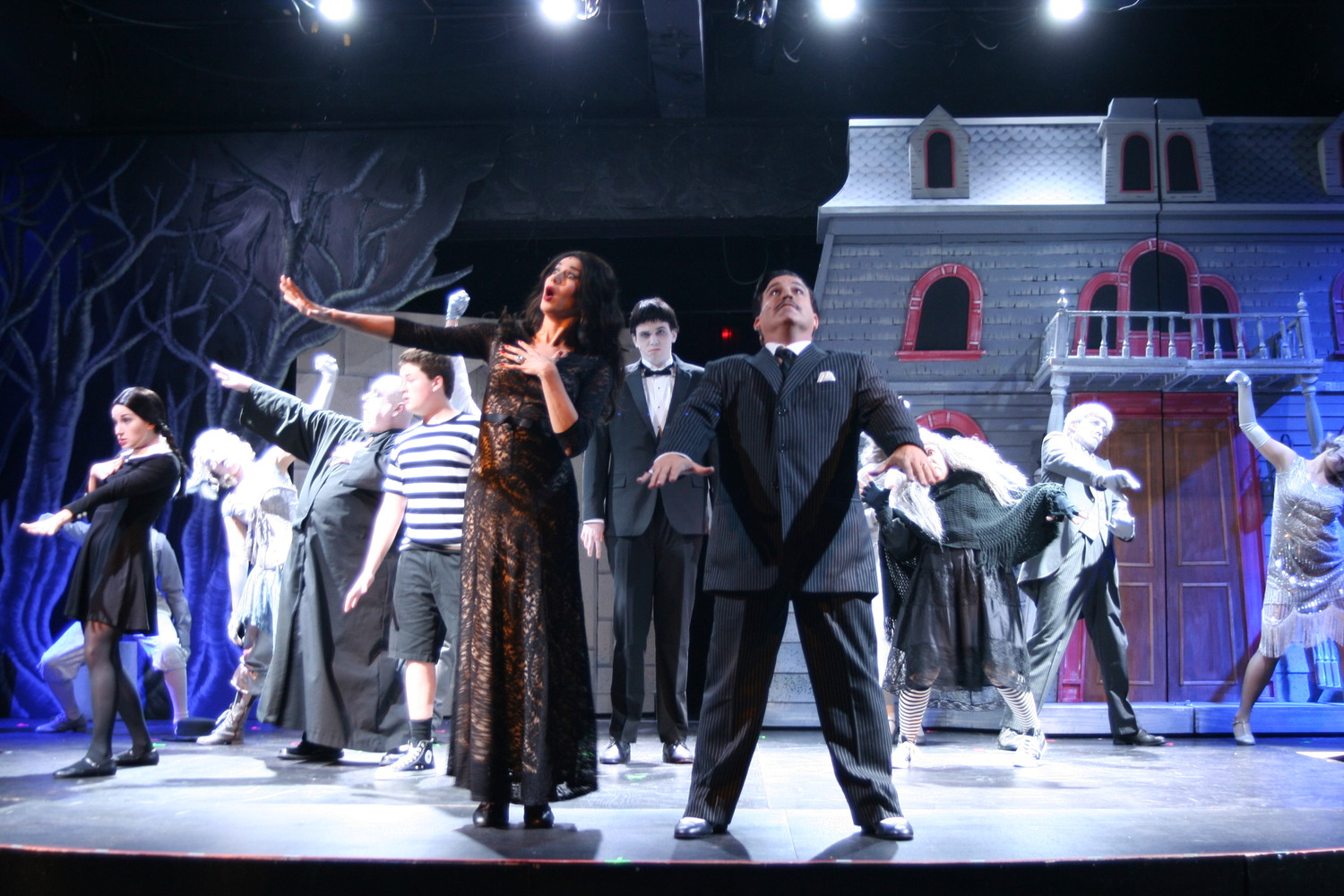 The Addams family will run through Nov. 12 at The Alhambra Theatre & Dining.