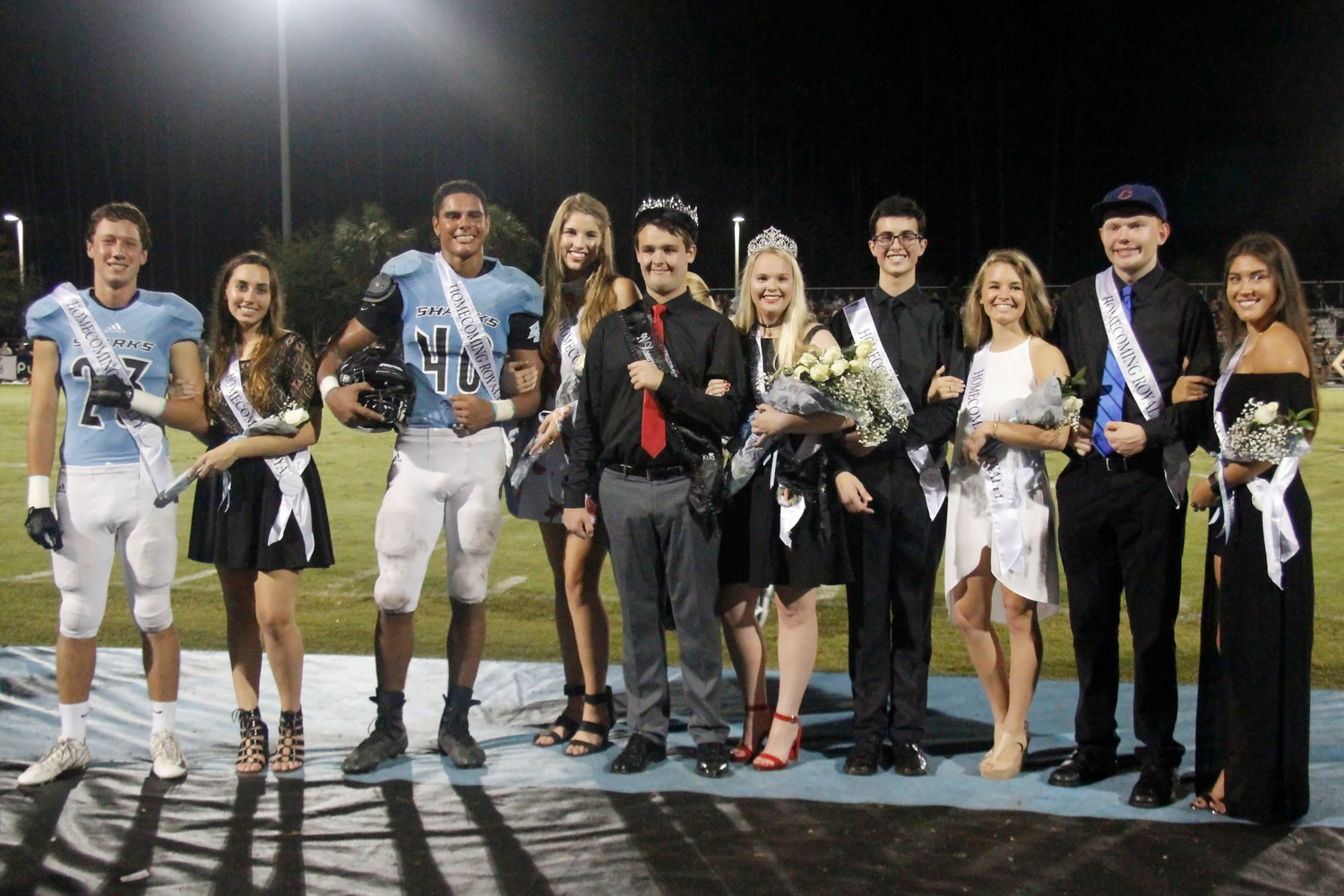 The entire Ponte Vedra Homecoming Court gathers for a photo.