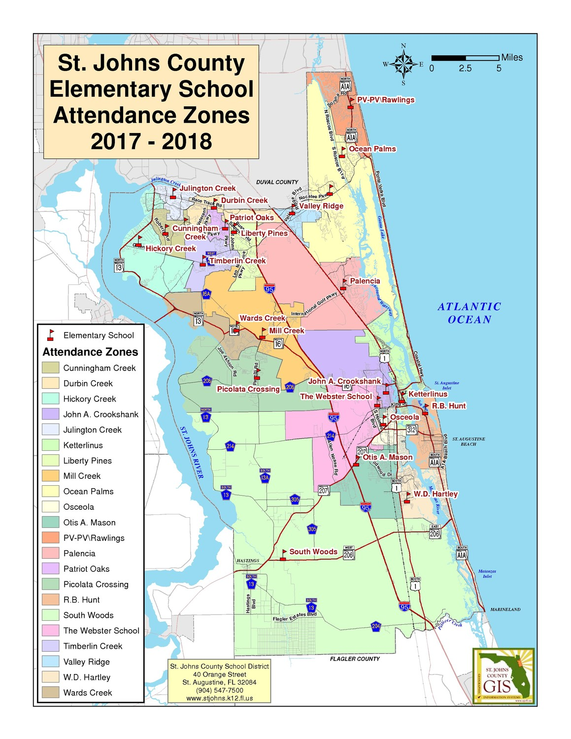"The current attendance zones for St. Johns County elementary schools will be revised to include two new K-8 schools (""KK"" and ""LL"") for the 2018-2019 school year. The county's rezoning plan will go before the school board for final approval Nov. 14."