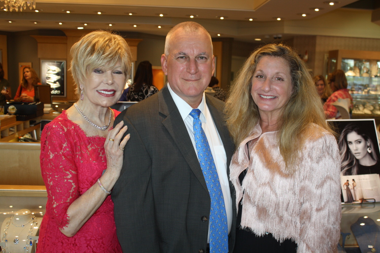 Actress, artist and animal advocate Loretta Swit, Underwood's Jewelers General Manager John Rutkowski and Ayla's Acres Executive Director Fran Charlson