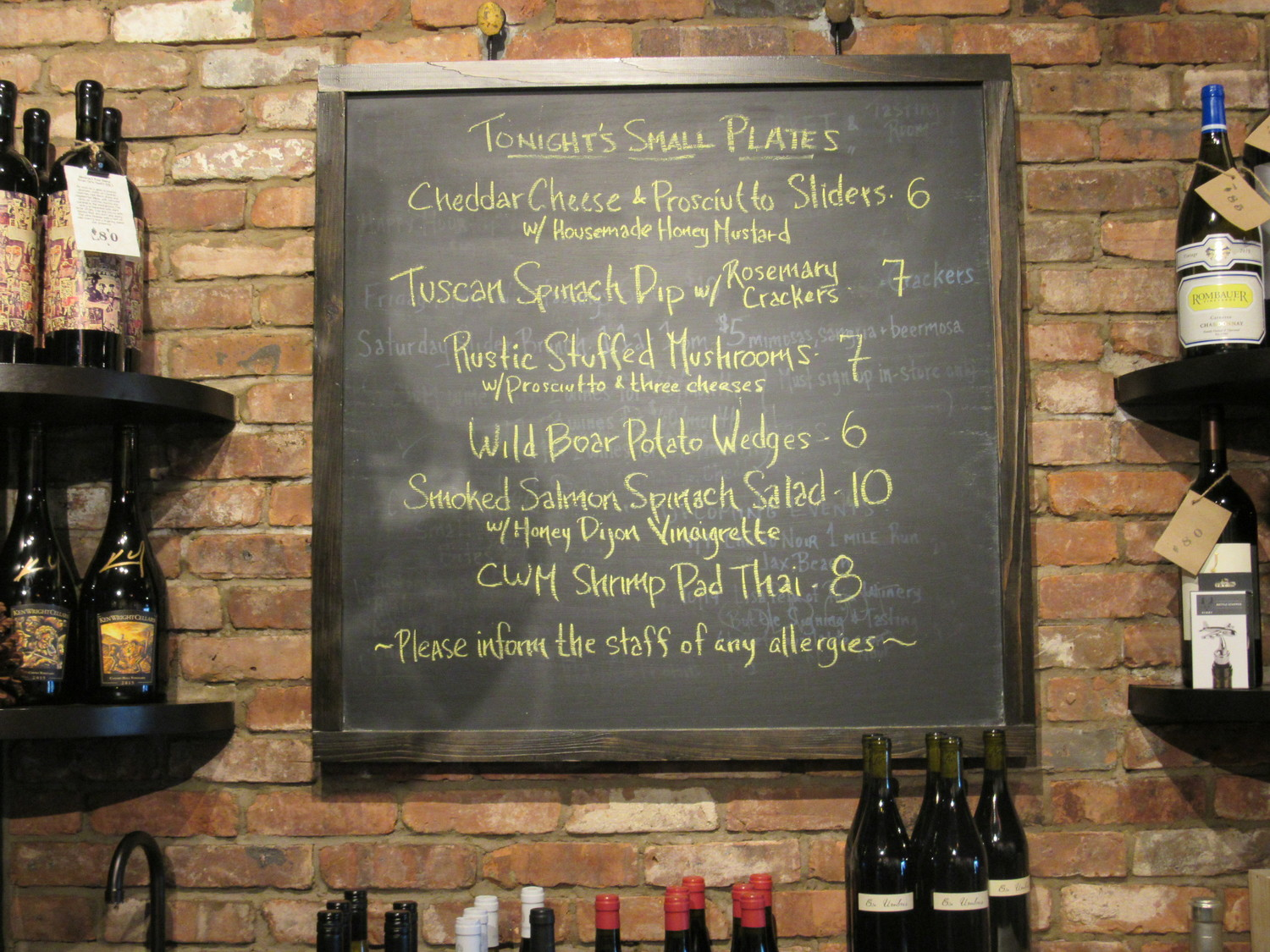Coastal Wine Market & Tasting Room boasts a new and flavorful menu selection.