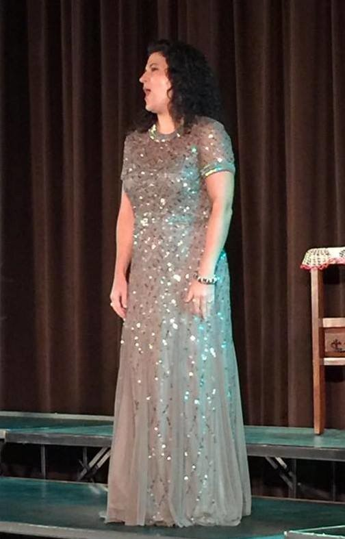 Soprano Brittany Fouche performs at the Mark Lance Armory in St. Augustine.