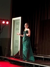 Mezzo-soprano Sarah Nordin performs at the Mark Lance Armory in St. Augustine.