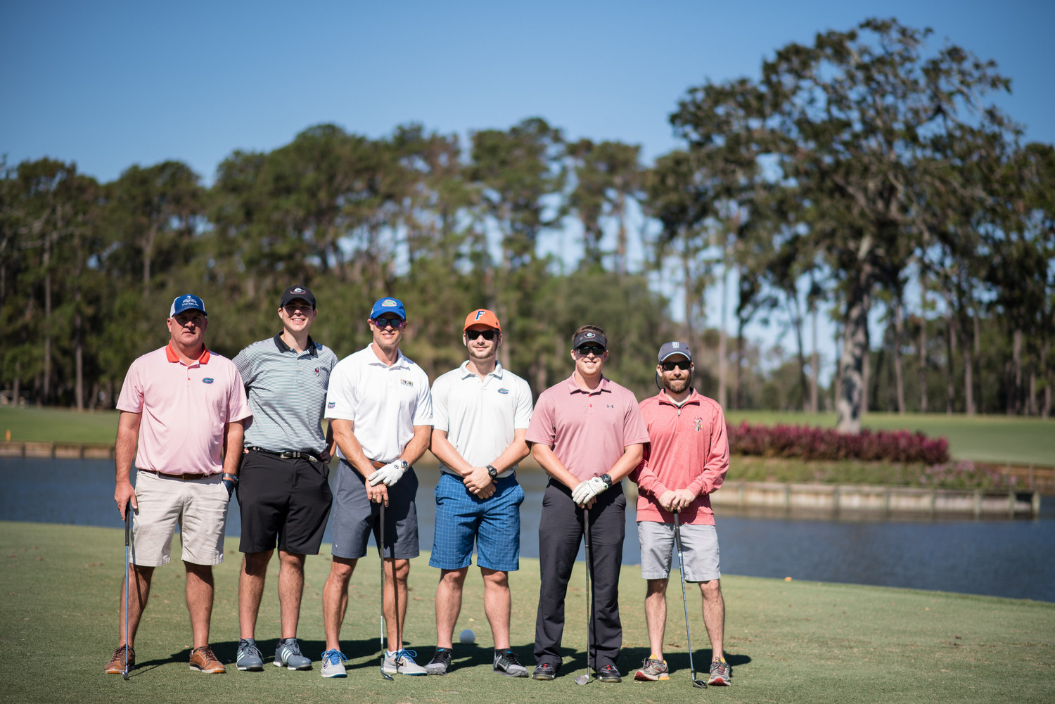 Danny Wuerffel (third from left) gathers with his foursome from Just BARE Chicken (event sponsor) and his nephew Zach.