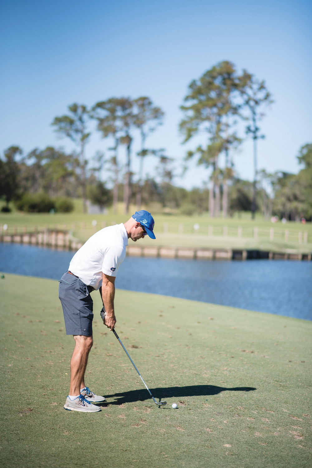 Danny Wuerffel prepares to hit a shot during the Desire Cup.