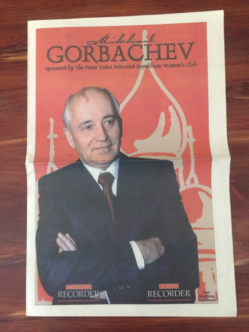 A special section on Mikhail Gorbachev sponsored by The Ponte Vedra Federated Republican Women's Club