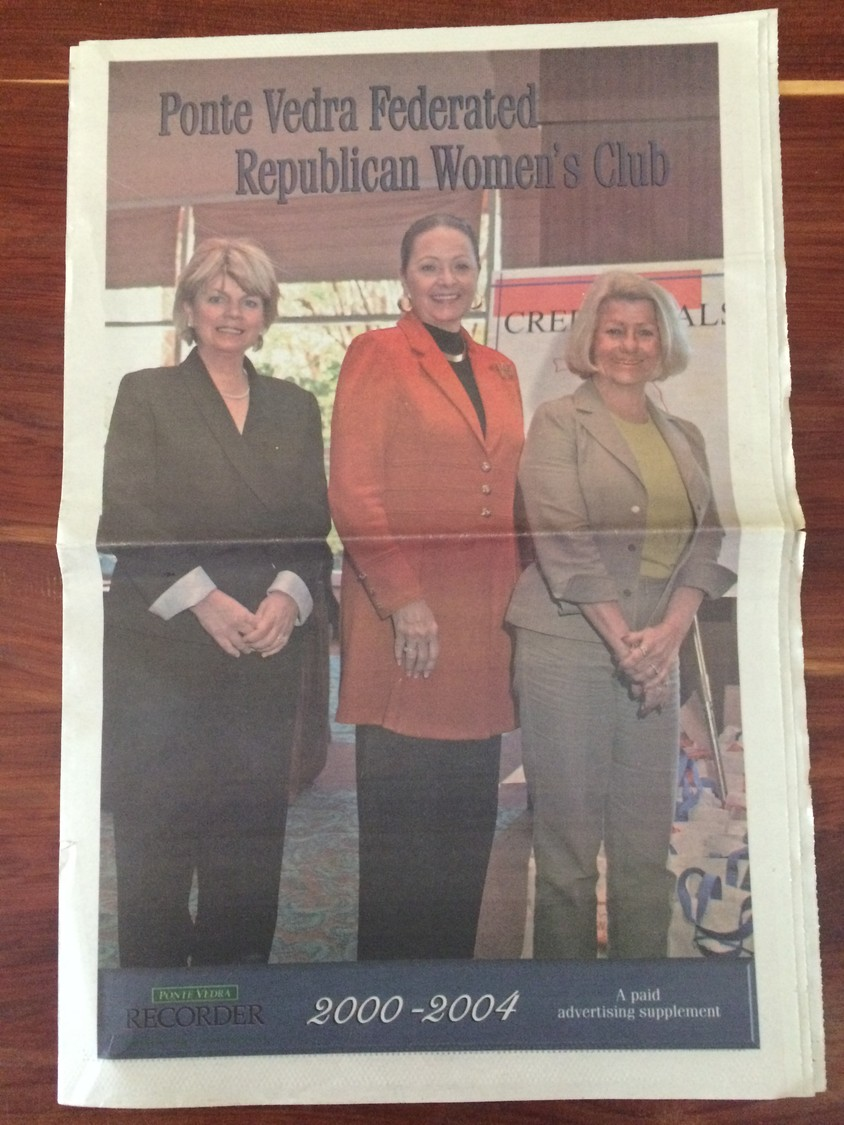 A special section on the Ponte Vedra Federated Republican Women's Club.