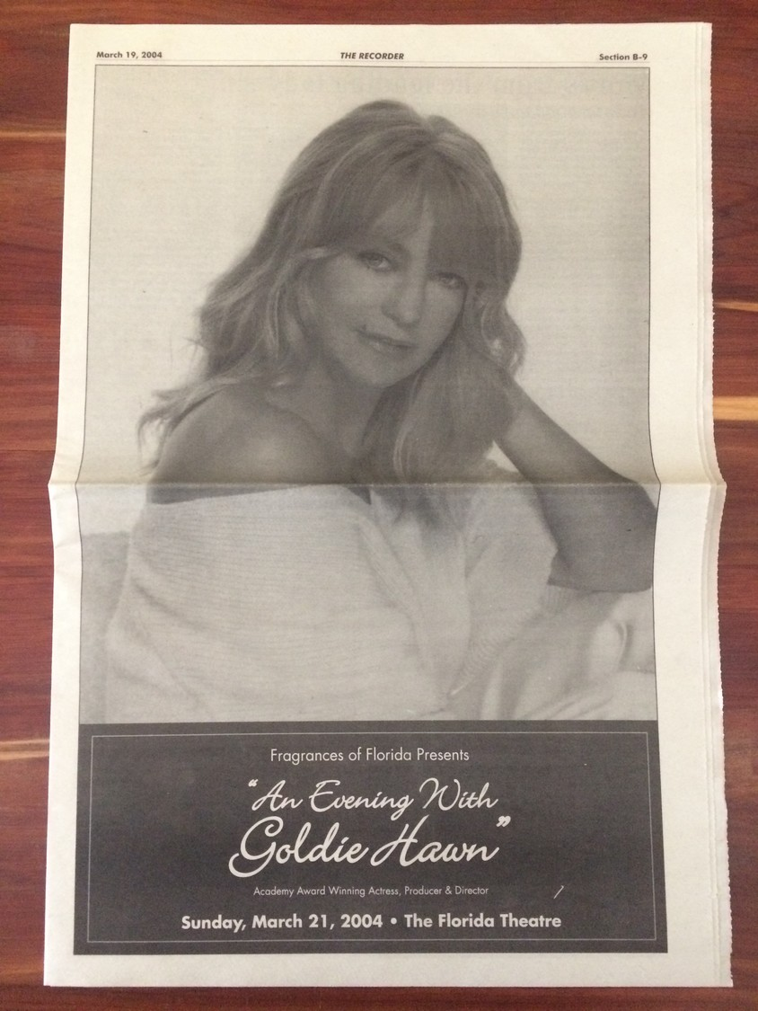 Goldie Hawn graces the cover of the Ponte Vedra Recorder.