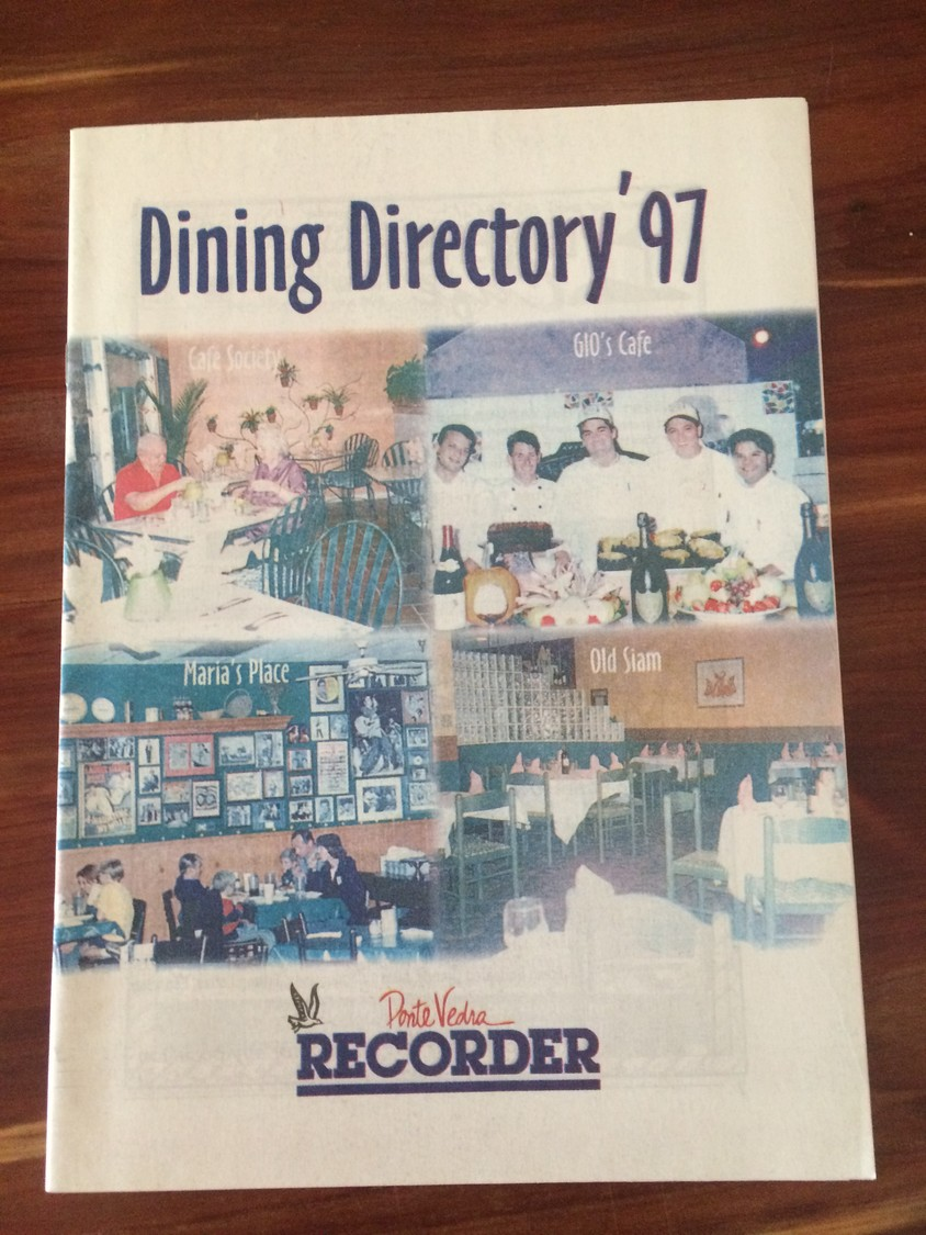 The Ponte Vedra Recorder's 1997 dining directory.