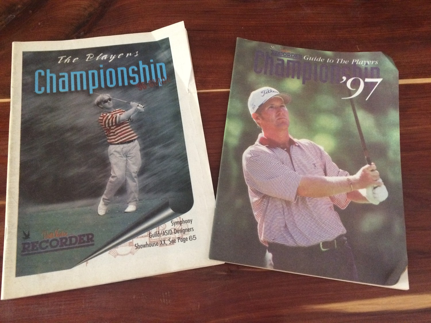 The Recorder's 1996 and 1997 PLAYERS Championship guides.