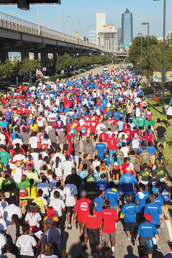 Around 25,000 people are expected to converge on Metropolitan Park in Downtown Jacksonville Sunday, Nov. 19, for the American Heart Association's First Coast Healthy for Good Heart Walk, which was rescheduled due to Hurricane Irma.