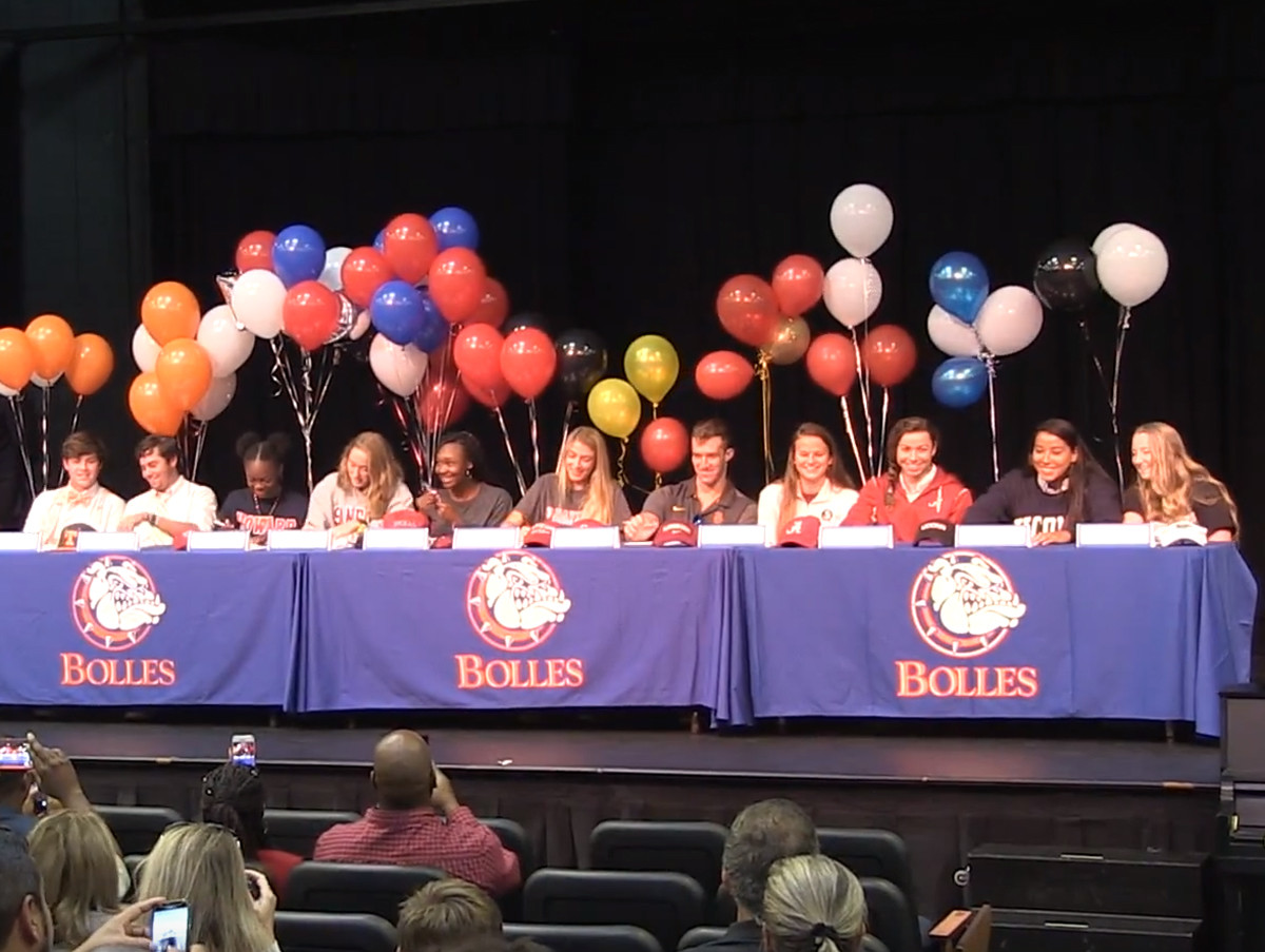 Bolles student-athletes commit to colleges during a signing ceremony on Nov. 8.