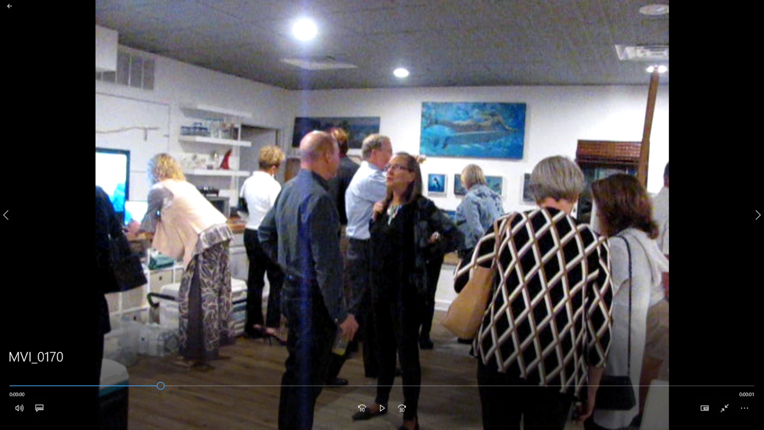 Save Guana Now co-founder Nicole Crosby (center) talks with guests during a fundraiser at the Coquina Studio Gallery in Jacksonville Beach.