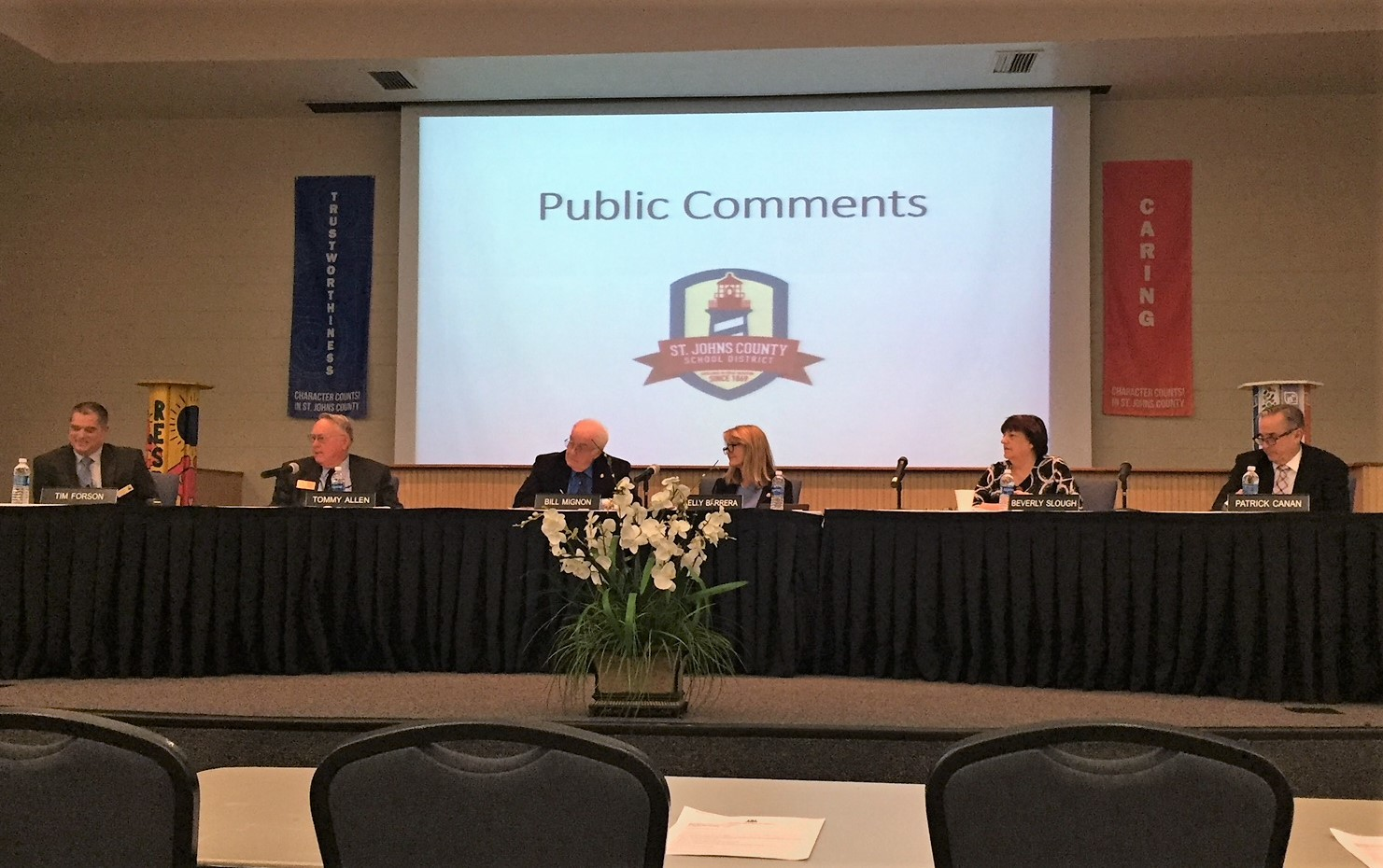 The St. Johns County School Board opens the floor to public comments at its Nov. 14 meeting.