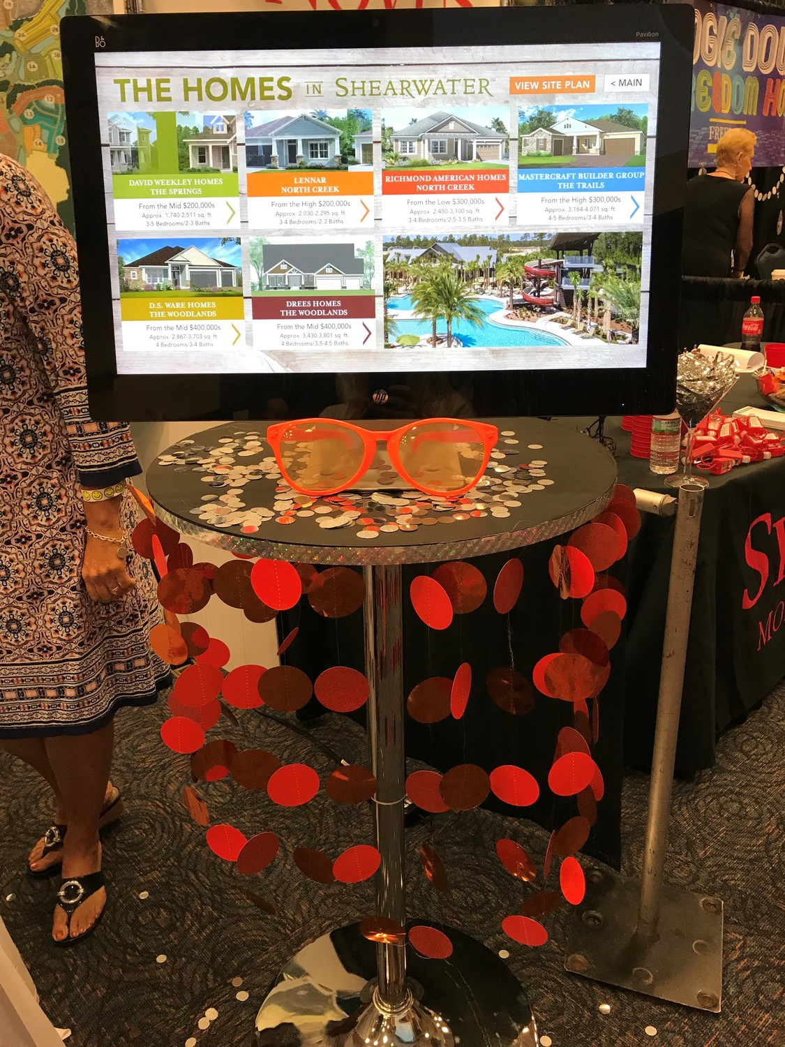 Shearwater's booth offered virtual tours of the community's various model homes.