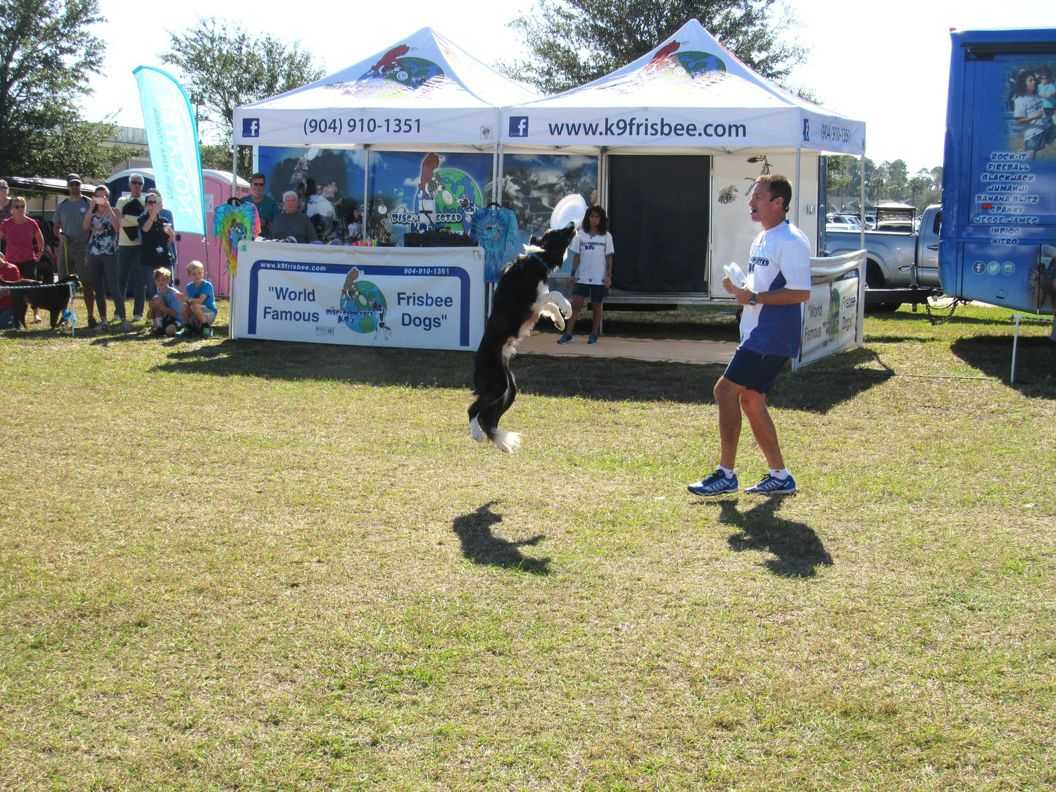"The Disc-Connected K9s entertain the crowds for ""Pet Lovers' Day"" at Nocatee Town Center."