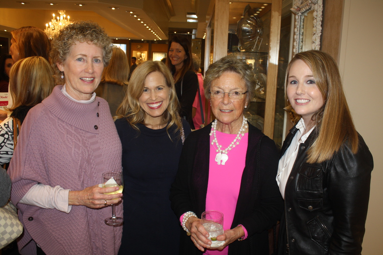 Kathie Seabrook, Dr. Dawn Mussallem, Susie Buckey and Jackie Joy gather at the event.