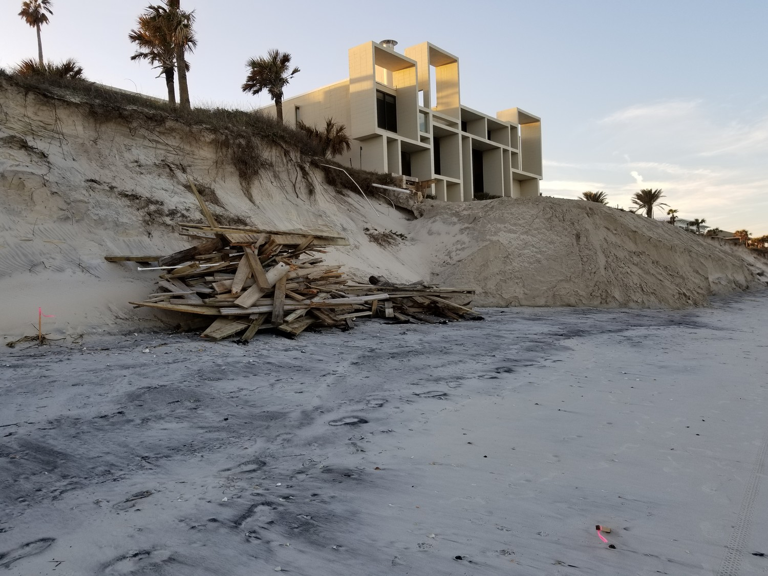Home owners on the 1000 block of Ponte Vedra Boulevard are working to restore their property's dune structure.