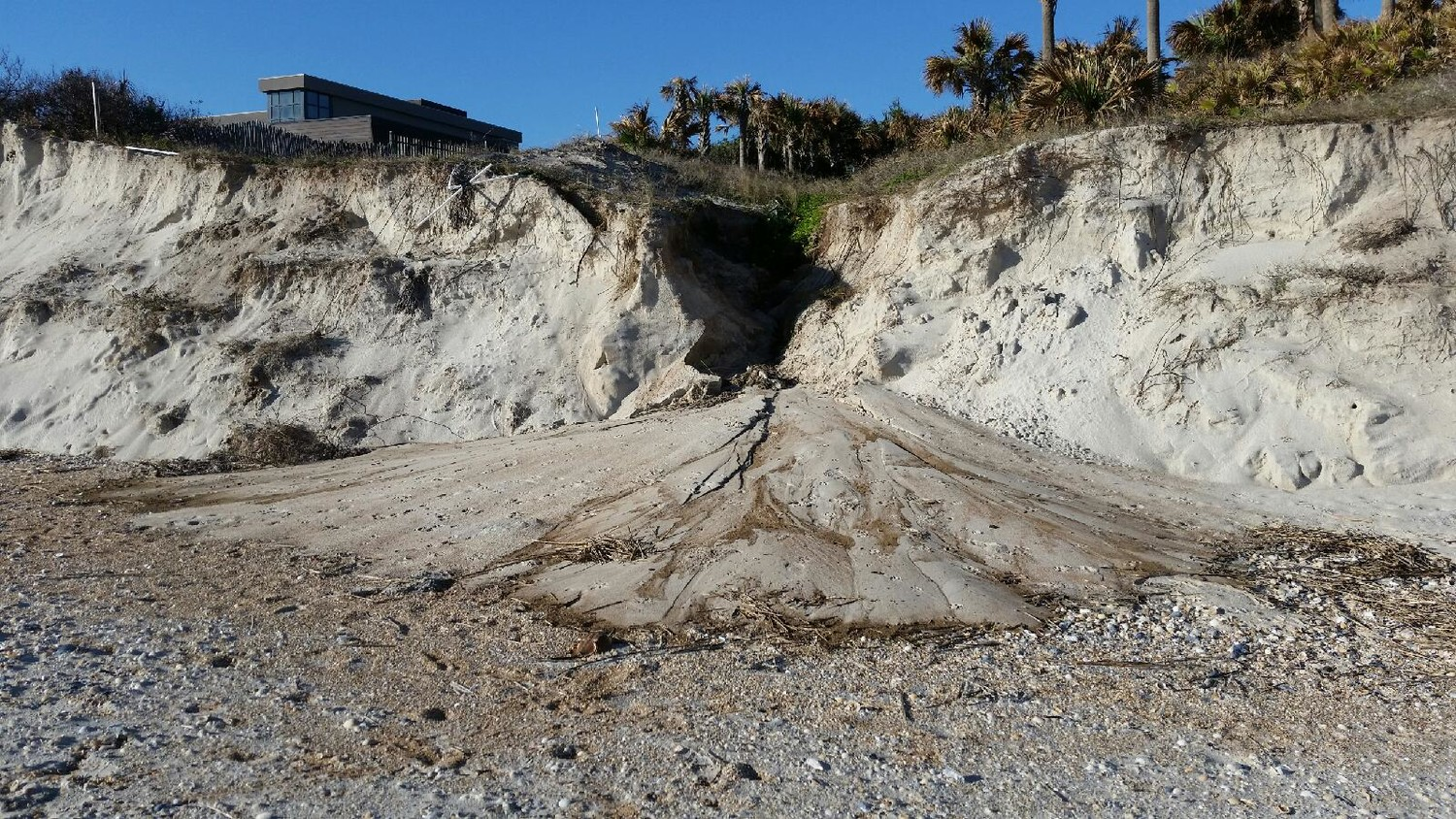 Erosion plagues the coastline between Mickler Road and Sawgrass Country Club.