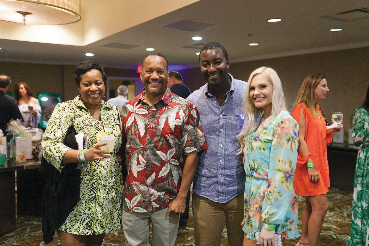 Guests embrace the tropical theme of Margarita J'Ville.