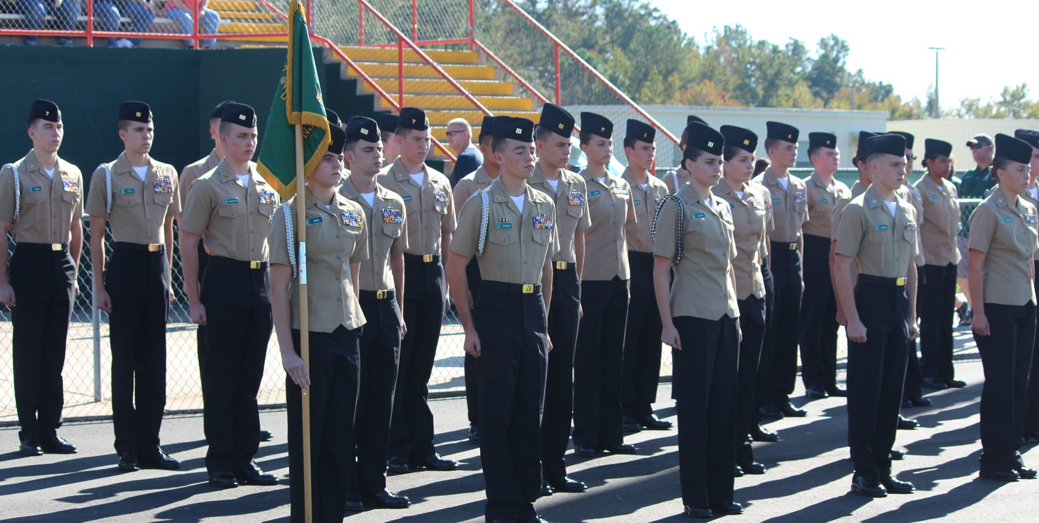 The Nease NJROTC drill team marches to victory at the Mandarin Drill Meet Nov. 18.