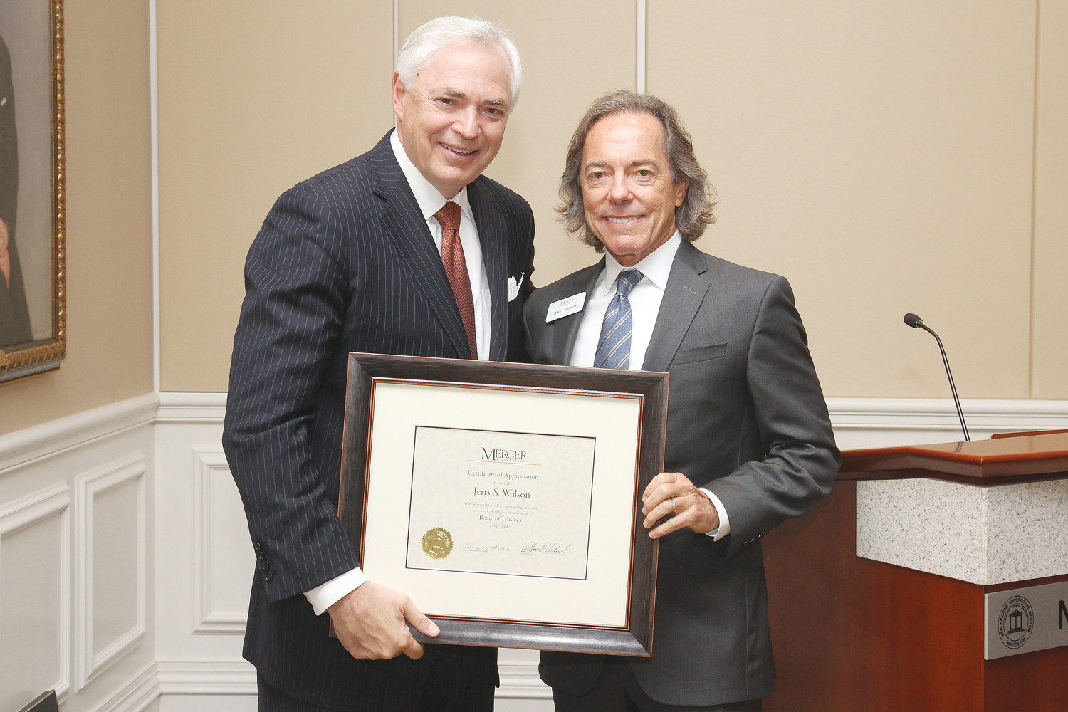 Ponte Vedras Jerry Wilson Recognized For Service As Mercer